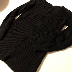 Vneck black sweater